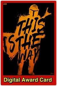 🔥DIGITAL🔥Topps STAR WARS Trader MANDALORIAN BRUSH STROKES Orange AWARD Card