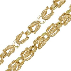 """Men's 10k Yellow Gold Turkish Link Chain Necklace 24"""" 5mm - 42 grams"""