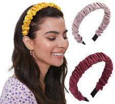 Women Fashion Ruched Headband Hair Hoops Hairband Girls Pleated Hair Accessories