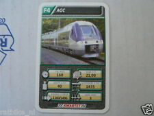22 SUPER TRAIN F4 AGC TREIN KWARTET KAART, QUARTETT CARD