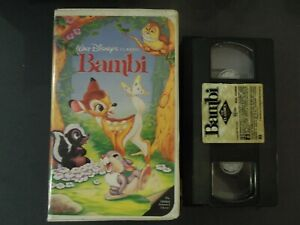 """WALT DISNEY'S CLASSIC """"BAMBI """" ON VHS IN CLAMSHELL CASE *TCI#R"""