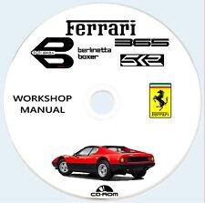 Workshop Manual Ferrari 512 BB Berlinetta Boxer,Ferrari 365 GT4 BB