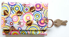 Ladies Girls Small Printed purse or wallet with coin pocket and Keyring Holder