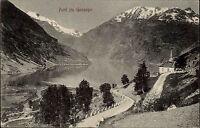 Geiranger Maråk Norwegen Norge Møre og Romsdal ~1920 Geirangerfjord Fjord Berge