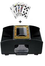 AUTOMATIC BATTERY OPERATED POKER CASINO ONE/TWO DECK CARD SHUFFLER FREE CARDS