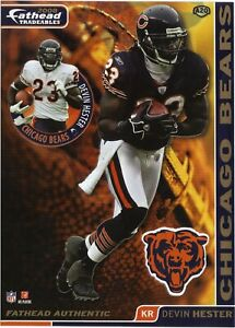 DEVIN HESTER CHICAGO BEARS MIAMI HURRICANES CANES FATHEAD TRADEABLES 2008 #A20