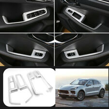 For Porsche Macan 2014-2020 ABS Silver Window lift panel switch cover trim 4pcs
