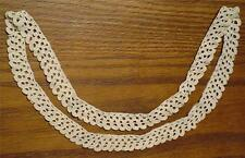 CIRCULAR PIECE OF ANTIQUE 1920's ECRU HAND-CROCHETED LACE-GREAT FOR A PILLOWCASE