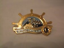 CR45) 2000 Multiple District 41 Sail Boat Wheel Blue Lobster Lions Club Pin