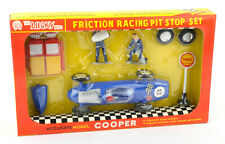 Vintage Lucky Toys Hong Kong Plastic Friction Racing Pit Stop Set No.6607