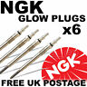 6 x NGK NTK Diesel D Heater Glow Plugs to fit CHRYSLER 300C 3.0 CRD 05--> #6286