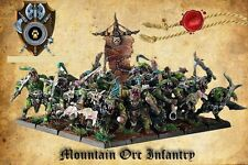 Shieldwolf Miniatures 28mm Mountain orcos infantería Conjunto de 20