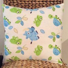 LAST TWO! Boys Nursery Blue and Lime Green  Cushion Cover 40cm x 40cm
