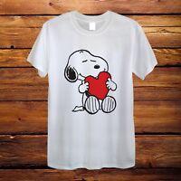 Snoopy Dog Heart Big Hug Love Peanuts Design T-Shirt Men Unisex Women Fitted