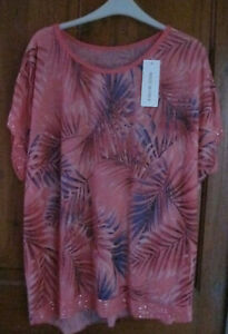 Cora Leaf Pattern Linen Look Cap Sleeve Long Tunic One Size with Sequins