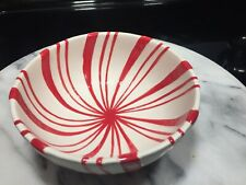 1 Hallmark Candy Cane Bowls Peppermint