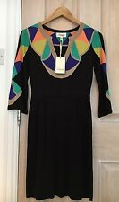 Alice Temperley Silk Monochrome Black  Dress - Size 8.RRP £1250- NEW with Tags!