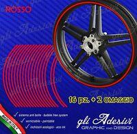 Strisce adesive nastro ruote moto ROSSO 6 mm cerchi 17 15 14 13 pollici
