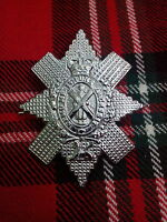 New Highland Glengarry Cap/Hat Badge Chrome Finish/British Military Army Badges