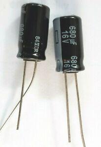 680uf 16v 105c LOW ESR size 15mmx8mm Panasonic EEUFR1C681L     x2pcs