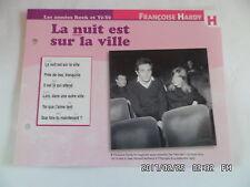 CARTE FICHE PLAISIR DE CHANTER FRANCOISE HARDY LA NUIT SUR LA VILLE