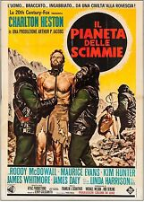 "Planet of the Apes 1968 Italian 4 - Fogli (55"" X 77""). Heston, MacDowell, Hunter"