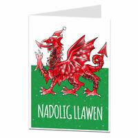 Welsh Christmas Card Dragon Design Nadolig Llawen