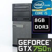 ~GTX 750ti~ Intel i5-2400 Quad Core, 8GB, 1TB, Gaming Desktop PC Windows 10
