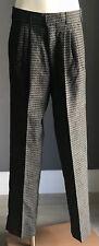 Vintage Boys Grey & Black BRACKS Full Length Pleat Dress Pants Size 12
