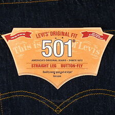 Levis 501 Jeans New Size 36 x 34 INDIGO ( Dark Blue ) Mens Button Fly #631