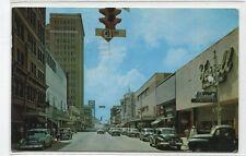 Main Street Cars Jacksonville Florida 1960 postcard