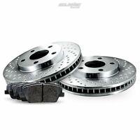 Rear Drilled Brake Rotors Disc and Ceramic Pads For Express 2500,Savana 2500