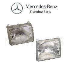 Mercedes W124 300CE 400E 500E 86-93 Set of Left and Right Headlight Lens Genuine