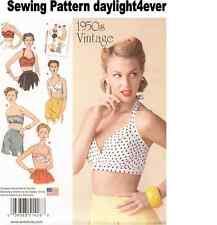 Women Retro Vintage 1950's Bra Top Halter Sewing Pattern 1426  Size 14-22 New #v
