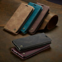 Leather Retro Wallet Magnetic Flip Case Cover for iPhone X/XS XR MAX 6 7 8 Plus
