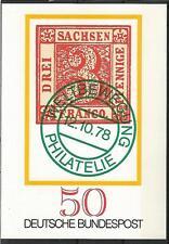 BRD Germany 1978 Tag der Briefmarke Ganzsache Postkarte ungelaufen