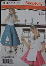 Simplicity 3847- Misses'- Car Hop & Poodle Skirt Outfit Costume