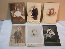Antique Photograph Assortment Lot Wedding Couple Infant on Wicker Chair Mom & Da