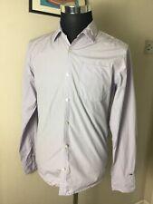 Tommy hilfiger Denim Lilac Flag LS Button Up Collared Shirt Medium M