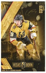 Cody Glass game poster 2/14/21 vs. Colorado Avalanche measures 11 by 17