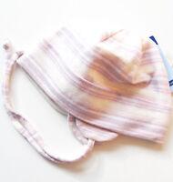 Mütze Gr.43 Sterntaler NEU creme rosa lila gestreift einlagig haube baby
