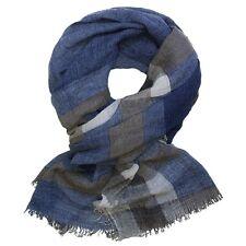Schaltuch Tuch blau weiß braun meliert Halstuch