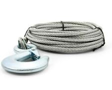 """New Camco 3/16"""" x 25 ft Stainless Steel Winch Cable w/Clevis Hook"""