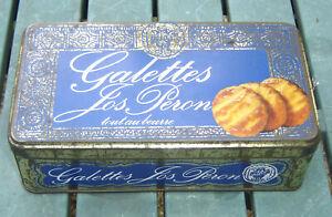 N - boîte rectangulaire de galettes Jos Peron - collection vintage