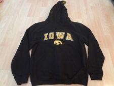 Youth Iowa Hawkeyes XL (20) Hoodie Hooded Sweatshirt (Black) Colosseum Athletics