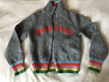 Benetton Zip Up Rainbow Jumper