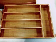 Bamboo Drawer Storage Box kitchen ware storage solution Multiple Use