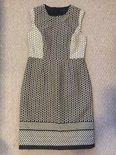 JCrew Paneled geometric dress 10 $168 F0075 white multi jacquard office work new