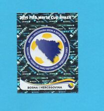 BRASILE 2014-PANINI-Figurina n.431-BOSNA/HERCEGOVINA-SCUDETTO-NEW BLACK BACK