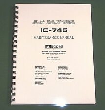 Icom IC-745 Service manual: With Oirignal Format Full-Size Foldout Schematics!
